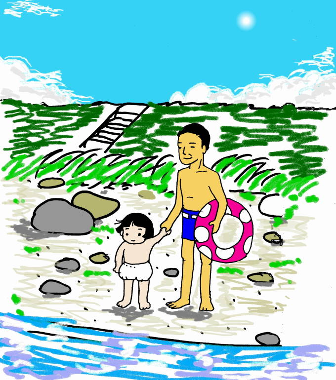 1_102 岐阜の長良川のすぐそばで育ち、毎日あの大きな川で遊び、古式泳法を習得し... バルお